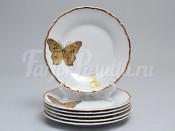 """Набор тарелок 17 см 6 шт """"Бабочки"""" МГ858"""