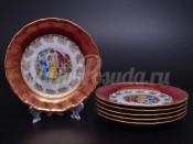 "Набор тарелок 19 см ""Мадонна Красная"" Эпиаг"