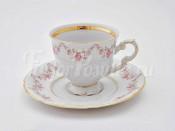 """Чашка высокая с блюдцем 0.15 л """"Мелкий цветок Соната"""""""