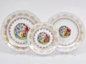 """Набор тарелок 18 предметов """"Мадонна перламутр Верона"""""""