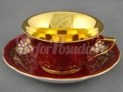 Чашка низкая с блюдцем 0,15л 13120424-A341