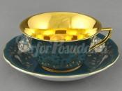Чашка низкая с блюдцем 0,15л 13120424-B341