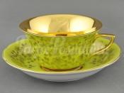 Чашка низкая с блюдцем 0,15л 13120424-H341