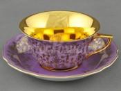 Чашка низкая с блюдцем 0,15л 13120424-G341