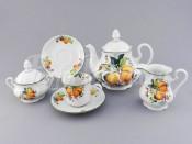 """Чайный сервиз """"Абрикосы Мэри-Энн"""" на 6 персон 15 предметов"""