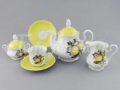 """Чайный сервиз """"Лимоны Мэри-Энн"""" на 6 персон 15 предметов"""