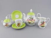 """Чайный сервиз """"Персики Мэри-Энн"""" на 6 персон 15 предметов"""