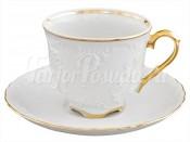 "Набор для чая ""Рококо в золоте"" на 6 персон 12 предметов"