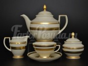 """Сервиз чайный """"Constanz Gold 9321"""" на 6 персон 15 предметов"""