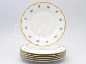 """Набор тарелок 17 см 6 шт """"Синий цветок"""" АГ850"""
