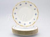 """Набор тарелок 25 см 6 шт """"Синий цветок"""" АГ850"""