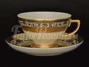 """Набор чайных пар  250 мл.12 пр. """"Constan-Royal Gold"""" B-A"""
