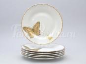 """Набор тарелок 21 см 6 шт """"Бабочки"""" МГ858"""