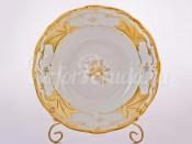 """Набор тарелок """"Кленовый лист белый 408"""" 22 см 6 шт"""