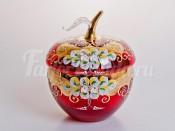 """Ваза для конфет """"Лепка красная яблоко"""" большая"""