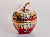 """Ваза для конфет """"Лепка красная яблоко"""" маленькая"""