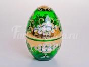 "Шкатулка ""Лепка зеленая"" в форме яйца"