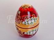 """Шкатулка """"Лепка красная"""" в форме яйца"""
