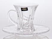 """Набор для чая """"Кристалайт - 99P62""""(чашка90мл.+155мл.блюдце) на 6перс.12пред."""