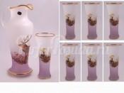 "Набор для воды ""Охота розовая II Испанский""(кувшин1,5л+6стаканов 250мл.)"