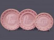 "Набор тарелок для сервировки стола ""Соната Розовый фарфор"" 18шт."