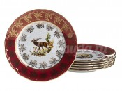 "Набор тарелок ""Красная охота"" OF870 19 см 6 шт"