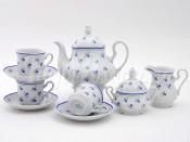 """Чайный сервиз """"Синие Цветы Мэри-Энн"""" 6 персон 15 предметов"""