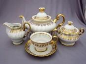 """Чайный сервиз """"Роспись золотая"""" АГ 853 на 6 персон 15 предметов"""
