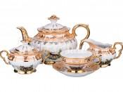 """Чайный сервиз на 6 персон 15 предметов """"Охота Бежевая"""" ОФ872"""