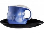 """Набор для капучино """"ab OvO"""" чашка и блюдце голубой"""