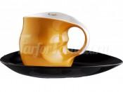 """Набор для капучино 230 мл """"ab OvO"""" чашка и блюдце оранжевый"""