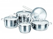 Набор кастрюль со сковородой 5 пр.: кастрюля 2,0 л., кастрюля 3,7 л., кастрюля 6,3