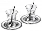 Чайный набор в восточном стиле, 6 пр.: блюдца 2 шт., стаканы чайные 2 ш