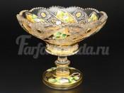 """Ваза для конфет """"Хрусталь золото"""" 15,5 см"""
