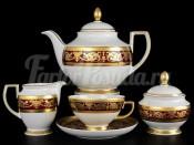 """Чайный сервиз на 6 персон 15 предметов """"Imperial Bordeaux Gold"""""""