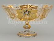 """Конфетница на ножке """"Яхами"""" 23,5 см хрусталь золото"""