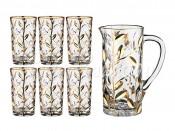 """Набор для воды """"Лаурус"""" 7 пр.: кувшин+6 стаканов 1300/250 мл."""