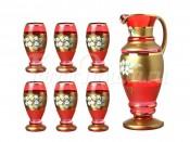 "Набор для воды 7 пр.""Красная лепка"": кувшин+6 стаканов 1700/250 мл."