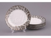 "Набор тарелок из 6 шт.""Кружево"" диаметр 19 см."
