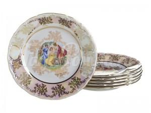 """Набор тарелок из 6 шт.""""Мадонна"""" диаметр 21 см."""