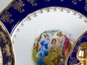 "Набор тарелок мелких  25 см ""Мадонна кобальт Мэри-Энн"""