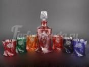 """Набор  для воды 6+1 """"Цветные"""" R-G разноцвет."""