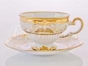 """Набор для чая """"Симфония золотая 427"""" чашка 210 мл и блюдце на 6 персон 12 предметов в подарочной упаковке"""