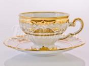"""Набор для чая """"Симфония золотая 427"""" чашка 160 мл и блюдце на 6 персон 12 предметов в подарочной упаковке"""
