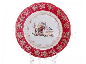 """Набор тарелок """"Мария - Охота красная"""" 21см."""