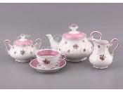 Чайный сервиз на 6 персон 15 пр.розовый 1500/200 мл.