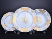 """Набор тарелок 18 предметов """"Лист Кленовый Белый"""""""