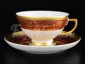 """Набор чайных пар """"Imperial Bordeaux Gold"""" 250 мл 6 шт"""