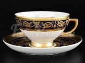 """Набор чайных пар """"Imperial Cobalt Gold"""" 250 мл 6 шт"""