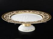"""Блюдо для торта """"Cream Imperial Gold"""" 32 см на ножке"""